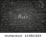mathematical formulas drawn by... | Shutterstock .eps vector #614861834