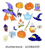 vector illustration of color... | Shutterstock .eps vector #61486435