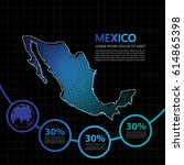 mexico map infographic design...   Shutterstock .eps vector #614865398