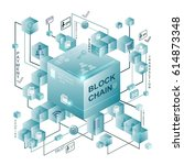block chain vector illustration ...