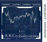 futuristic user interface....   Shutterstock .eps vector #614878328