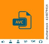avc file. blue symbol icon on...
