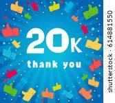 20000 followers vector... | Shutterstock .eps vector #614881550