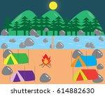 camping vector | Shutterstock .eps vector #614882630