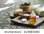 natural spa settings and... | Shutterstock . vector #614883083