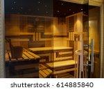 interior of finnish sauna... | Shutterstock . vector #614885840