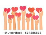 vector illustration of hands... | Shutterstock .eps vector #614886818
