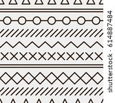 simple pattern with geometrical ... | Shutterstock .eps vector #614887484