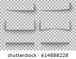 transparent realistic paper... | Shutterstock .eps vector #614888228
