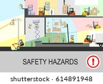 health and safety hazards. flat ... | Shutterstock .eps vector #614891948