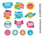 sale banners  online web... | Shutterstock .eps vector #614894390