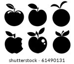 set of various apple...