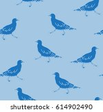the pattern of silhouettes of... | Shutterstock .eps vector #614902490