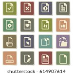 documents vector icons for user ... | Shutterstock .eps vector #614907614