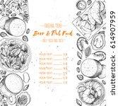 pub food menu  vector... | Shutterstock .eps vector #614907959