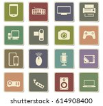 device vector icons for user... | Shutterstock .eps vector #614908400