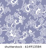 seamless white vector lace... | Shutterstock .eps vector #614913584