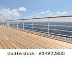 promenade cruise ship deck.   Shutterstock . vector #614922800