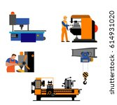 the process of working people... | Shutterstock .eps vector #614931020
