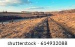 springtime.landscape with river ... | Shutterstock . vector #614932088