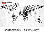 abstract world map of radial... | Shutterstock .eps vector #614938094