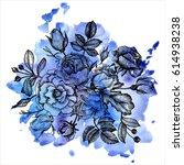 vintage vector floral...   Shutterstock .eps vector #614938238
