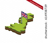 isometric map and flag of...   Shutterstock .eps vector #614938739