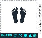 footprint icon flat. simple...