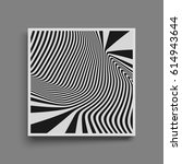 pattern with optical illusion.... | Shutterstock .eps vector #614943644