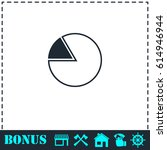 pie chart icon flat. simple...
