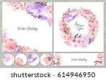 watercolor set of backgrounds... | Shutterstock . vector #614946950