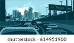 san diego skyline | Shutterstock .eps vector #614951900