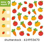counting game for preschool... | Shutterstock .eps vector #614953670