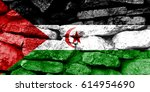 flag of western sahara | Shutterstock . vector #614954690