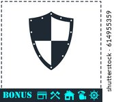 shield icon flat. simple... | Shutterstock . vector #614955359