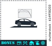 car diagnostics icon flat.... | Shutterstock . vector #614958203