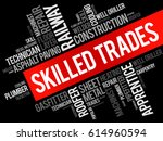 skilled trades word cloud... | Shutterstock .eps vector #614960594