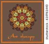 flower mandala. decorative... | Shutterstock .eps vector #614961440