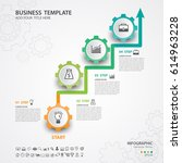 abstract infographics number... | Shutterstock .eps vector #614963228