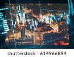 financial stock market in... | Shutterstock . vector #614966894