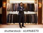 full length portrait of bearded ... | Shutterstock . vector #614968370