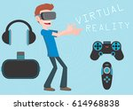 virtual reality  | Shutterstock .eps vector #614968838