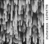 grunge halftone dots vector... | Shutterstock .eps vector #614969798