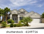 gray two story stucco modern...   Shutterstock . vector #6149716