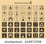 vector packaging symbols on... | Shutterstock .eps vector #614971958