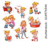 Cartoon Kid Daily Routine...