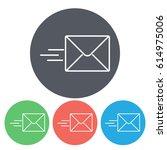 line icon  sending a message   Shutterstock .eps vector #614975006