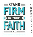 stand firm in your faith bible...   Shutterstock .eps vector #614975210