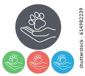 line icon  dog adoption | Shutterstock .eps vector #614982239