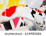 old grunge ripped torn vintage... | Shutterstock . vector #614985686
